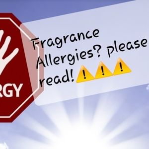 Allergy Fragrance Disclaimer